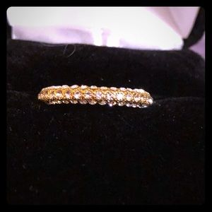 Jewelry - 🌺GIFTED🌺🆕 Eternity Band 925 SS with 18k Gold
